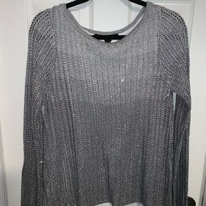 White House Black Market gray ombré sweater